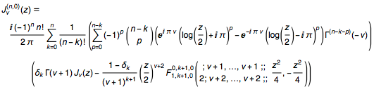 Eliminating Bell Y from the nth-order derivative with respect to parameter of the  Bessel function J