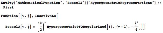 Hypergeometric representation for Bessel J