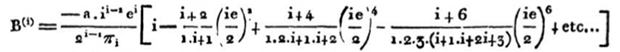 Bessel's sum in old-style notation