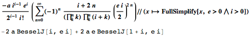 Simplifying Bessel's sum with the Wolfram Language