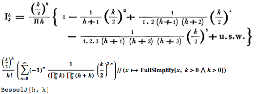 Bessel's second work using the nearly modern notation to denote his function