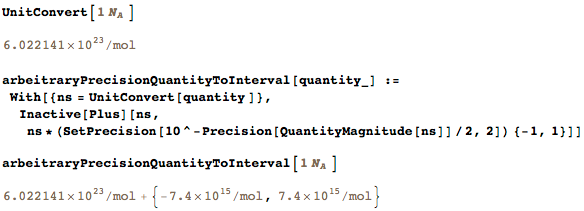 Converting arbitrary precision numbers to intervals