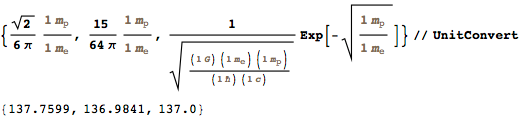 Guessing combinations of constants