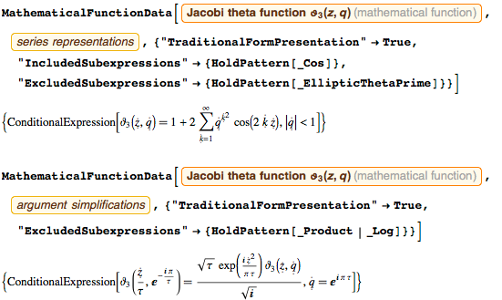 Sum representation and inversion formula from the Jacobi elliptic theta function 3