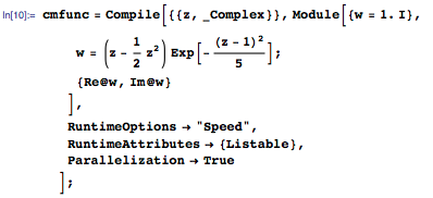 Using a complex holomorphic function