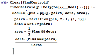 Expressing Lloyd's algorithm as findCentroid function