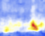 A heat map of an object's motion, created with the Wolfram Language