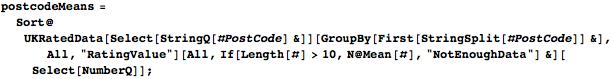 Using PostCode key