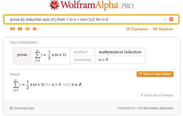 Induction-based proof generator on Wolfram|Alpha