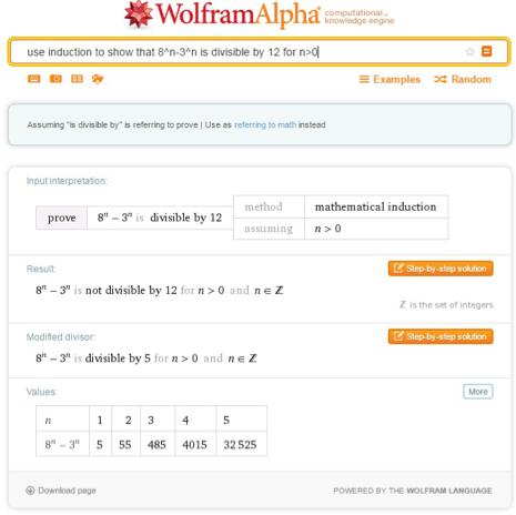 Application on Wolfram|Alpha