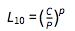 L_10 = (C/P)^p