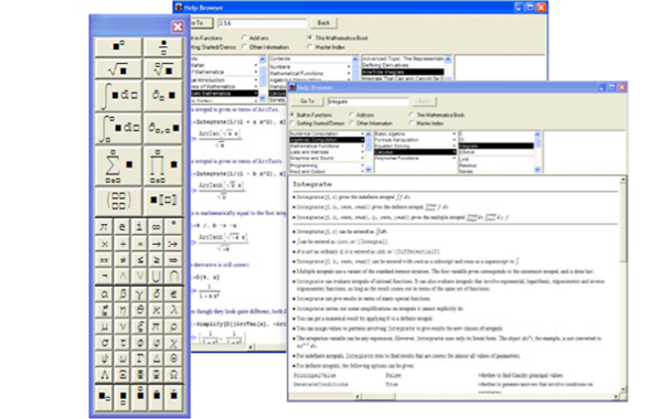 Mathematica notebooks in 1996