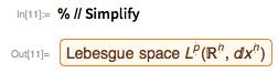 % // Simplify