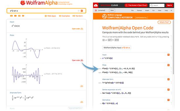 x^2 sin x在Wolfram|Alpha中