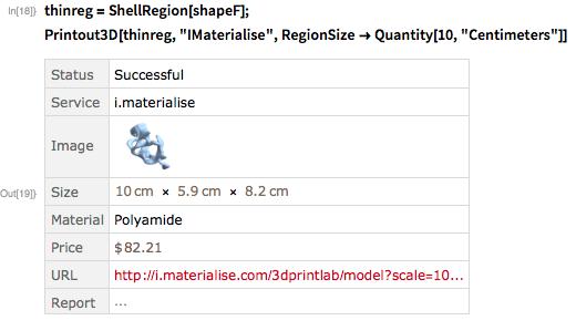 """thinreg = ShellRegion[shapeF]; Printout3D[thinreg, """"IMaterialise"""",   RegionSize -> Quantity[10, """"Centimeters""""]]"""
