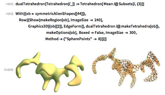 dualTetrahedron[Tetrahedron[l_]] :=   Tetrahedron[ Mean /@ Subsets[l, {3}]]