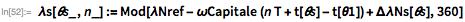 satpts[n_] :=    Table[{\[Phi]s[\[Theta]s], \[Lambda]s[\[Theta]s, n]}, {\[Theta]s, 0,      360, .01}];