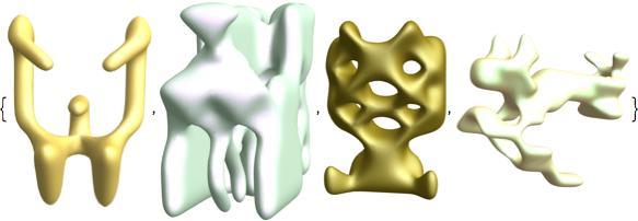 symmetric function animal shapes 1