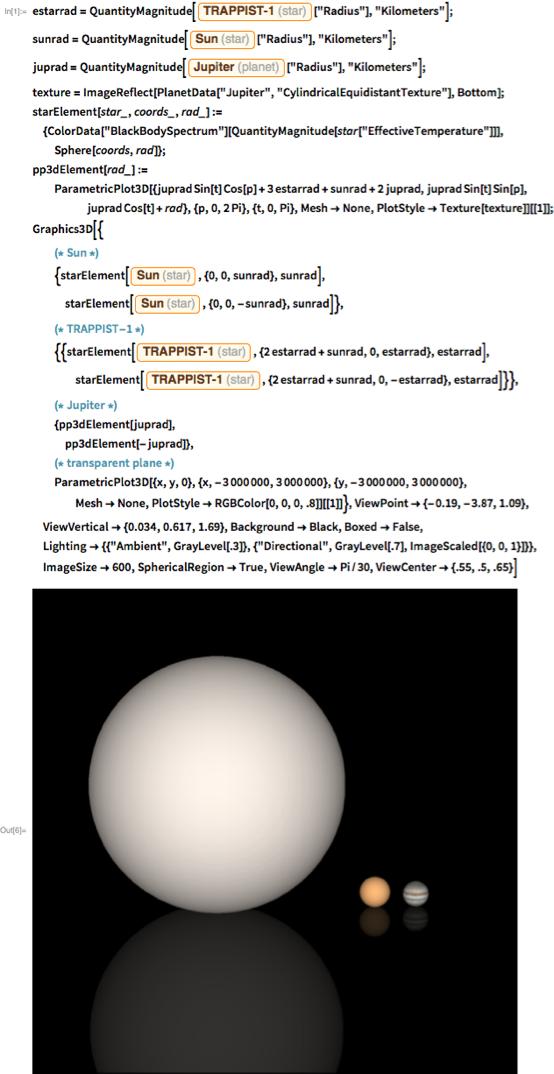 "estarrad = QuantityMagnitude[[""Radius""], ""Kilometers""];"