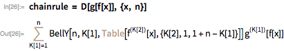 chainrule = D[g[f[x]], {x, n}]