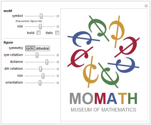 MoMath logo explorer