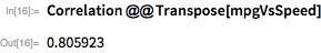 Correlation @@ Transpose[mpgVsSpeed]