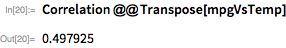 Correlation @@ Transpose[mpgVsTemp]