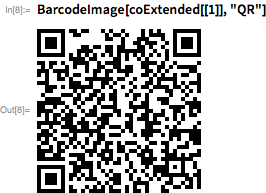 """BarcodeImage[coExtended[[1]], """"QR""""]"""