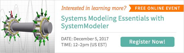 Wolfram System Modeler online event
