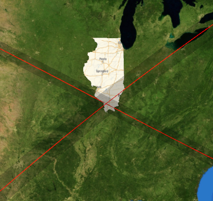 Eclipse paths crossing
