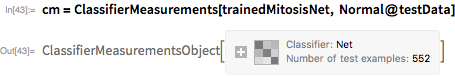 cm = ClassifierMeasurements[trainedMitosisNet, Normal@testData]