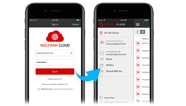 Wolfram Cloud Player login