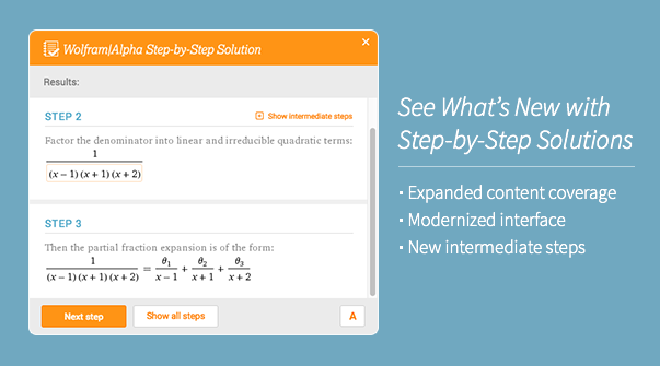 See what is new in step-by-step solutions
