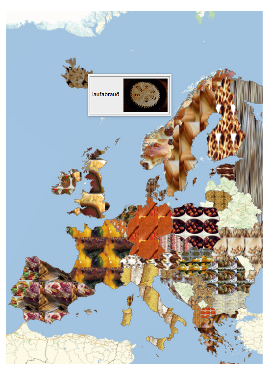 Europe holiday foods map