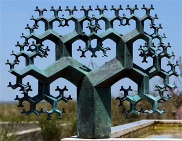 Fractal tree sculpture