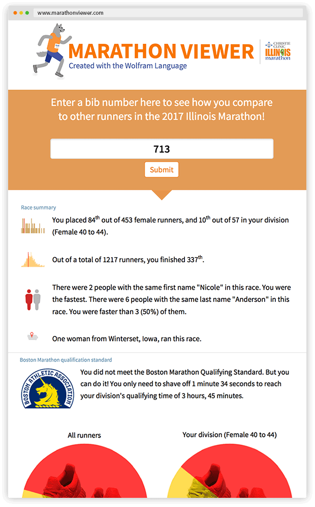 Marathon Viewer website