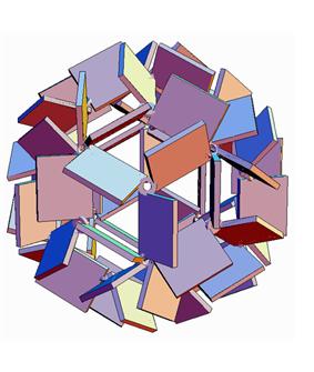 Book sculpture graphic