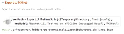 Export to MXNet