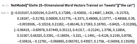 GloVe 25-Dimensional Word Vectors Trained on Tweets