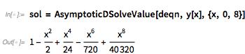 sol = AsymptoticDSolveValue