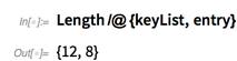 Length/@{keyList,entry}