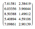 Five-chunk score pairs