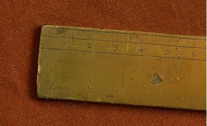 Zoomed-in brass meter