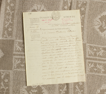 Adrien-Marie Legendre's letter with letterhead
