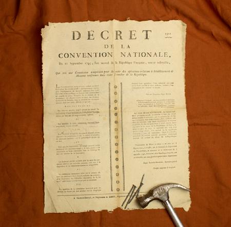 Decret de la Convention Nationale