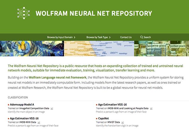 Wolfram Neural Net Repository