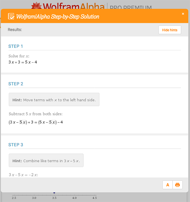 Wolfram|Alpha Pro Step-by-Step Solutions