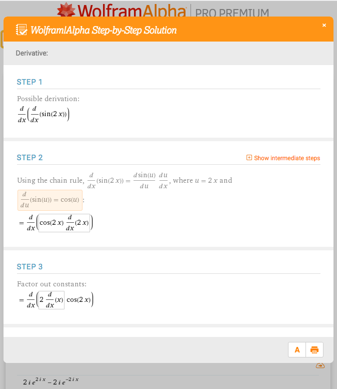 Wolfram|Alpha Pro Step-by-Step Solutions for Calculus