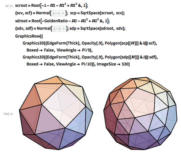 Snub cube and snub dodecahedron