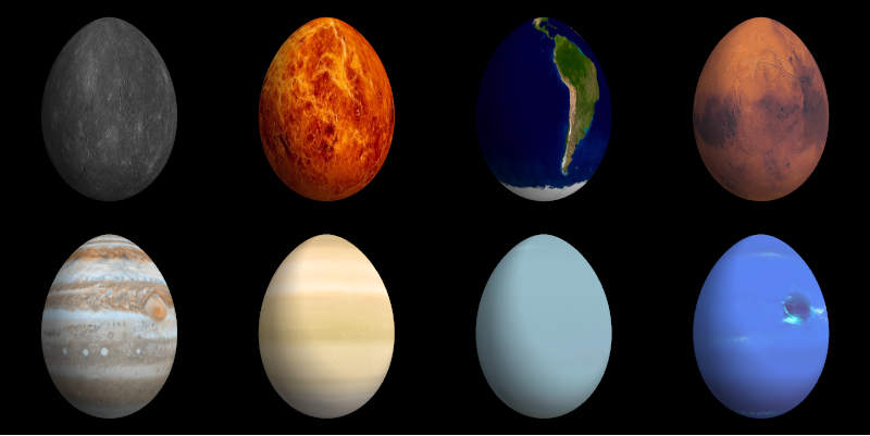 Decorating Easter Eggs with the Planets